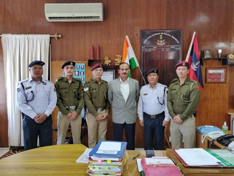 Mizoram Police Boxing Team congratulated by DGP, Mizoram for their achievement