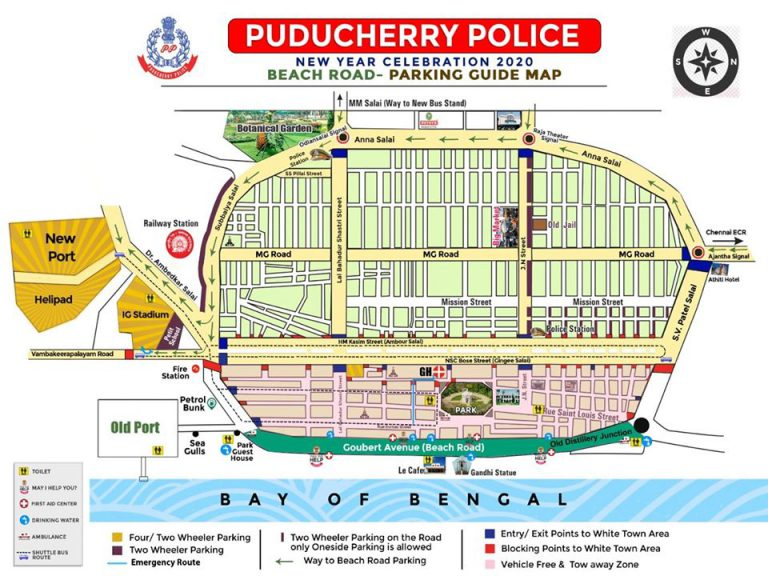 Puducherry Police gives traffic diversion details for New year Eve