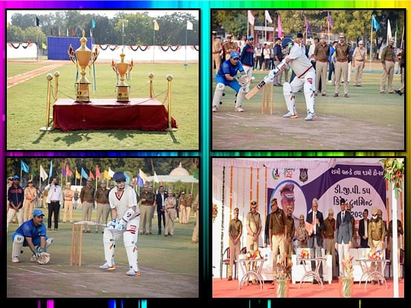 Cricket Tournament launched by the D G P of Gujarat