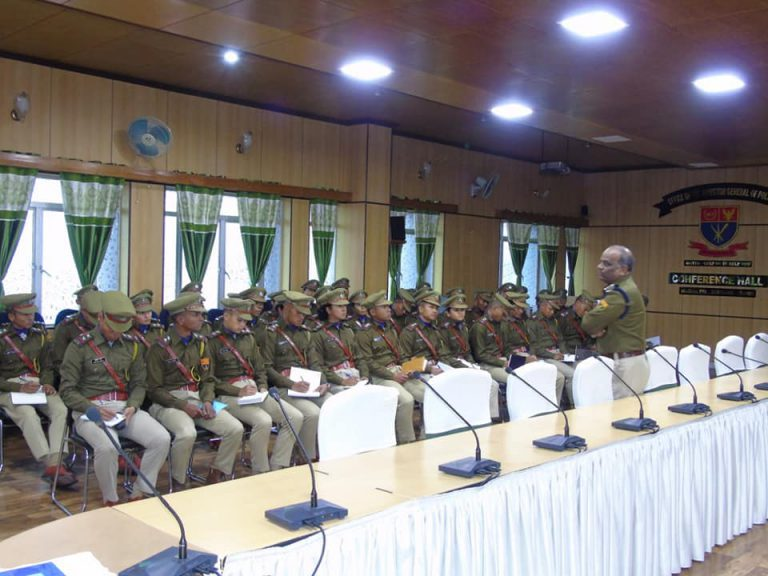 DGP of Meghalaya interacts with Sub-Inspectors