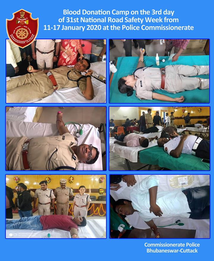 Senior Police Officers participated in Blood Donation Camp