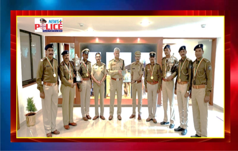 DGP of Gujarat congratulated Police Team for winning Gold Medal and Trophy