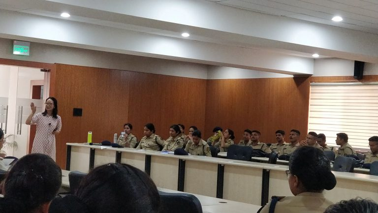 D S P probationers undergoing training in Bhopal
