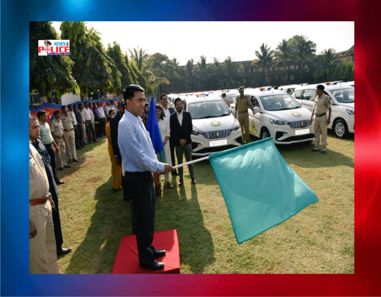 Goa CM flagged off new vehicles for Goa Police