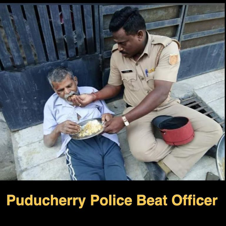 Puducherry Police are kind to destitute and friendly