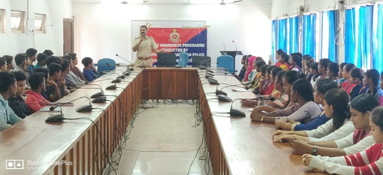 Road safety Awareness conducted by Andaman and Nicobar Traffic Police