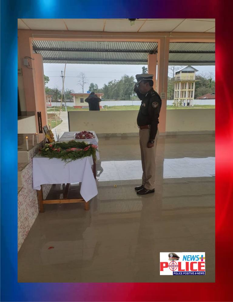 DGP of Arunachal Pradesh give condolence to the death of Constable Mr.Tapop Yajo of 5th IRBN