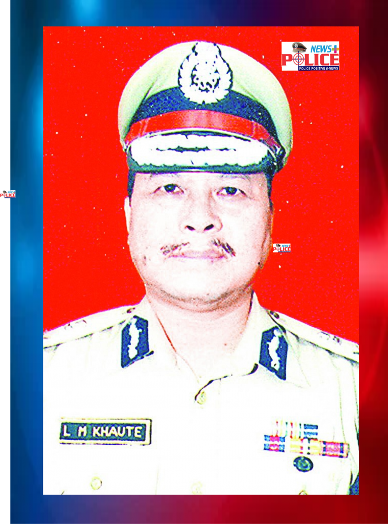 Mr. L.M. Khaute IPS DGP Manipur at the 1st Battalion Manipur Rifles Ground