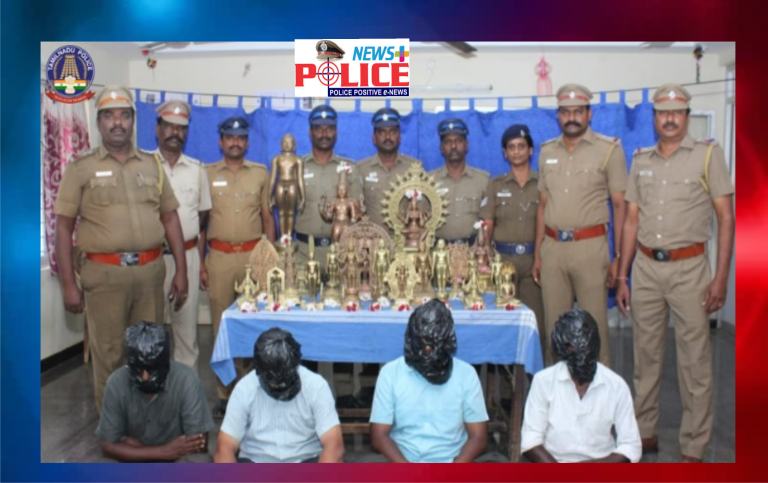 Thanjavur Police have recovered 22 stolen statues and arrested 4 people