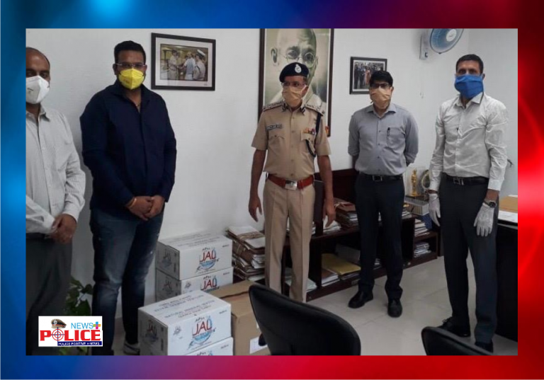 Angrej Foundation donated essential products to Chandigarh Police to fight COVID-19