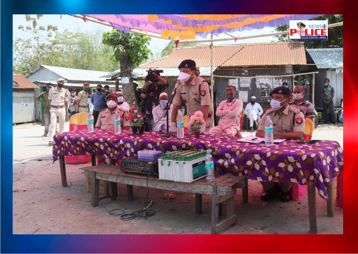 Assam Police give Awareness to villagers about COVID-19