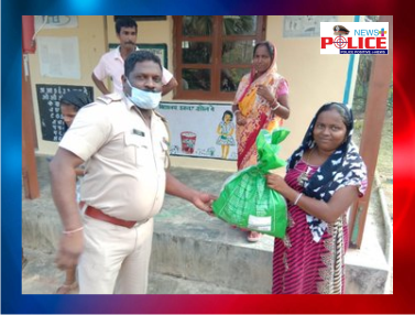 Bamboo flat Police procured and distributed ration to poor families