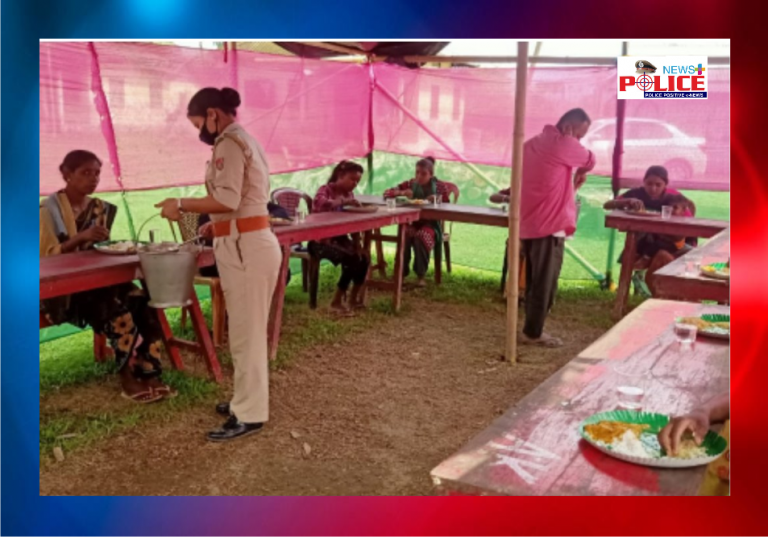 Charaideo Police served hot meals to destitute and daily wagers