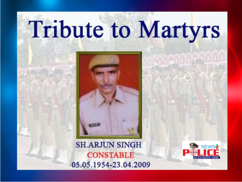 Rajasthan Police pays reverence to Martyr Mr. Arjun Singh, Constable