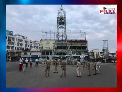Dimapur Police at Easter Sunday prayer at City Tower
