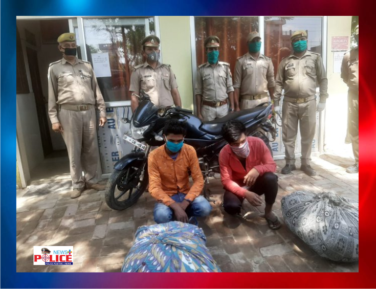 Gorakhpur Police arrested thieves and recovered the stolen material