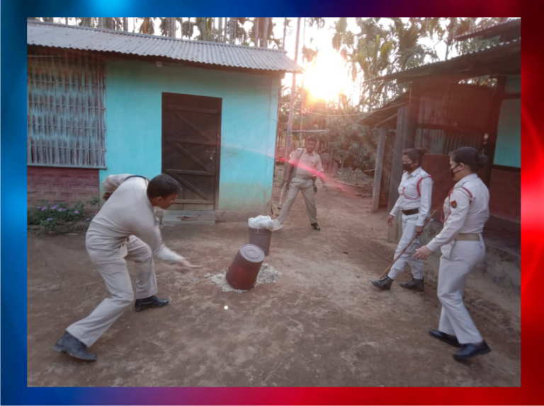 Kamrup Police takes stern action against persons involved with illicit liquor