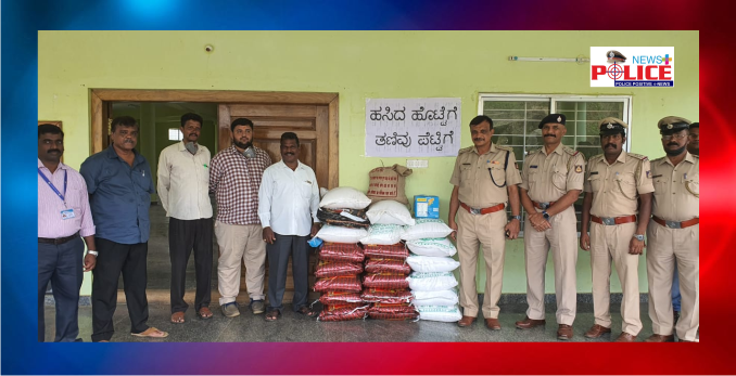 Food Items received, opened by Kodagu District Department and Kodagu Police