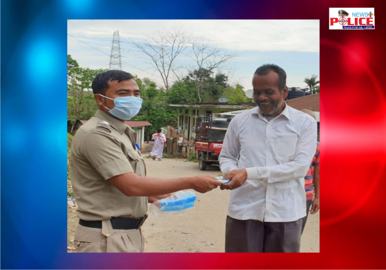 Pillangkata Police distributed masks to the people of 4 villages