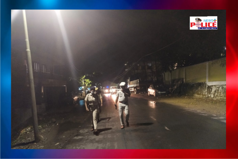 Foot patrolling done by Mrs. Sandhya Swamy, IPS ASP during COVID-19 Lock down