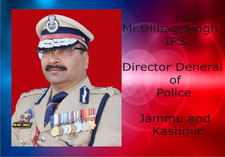 The DGP of Jammu and Kashmir felicitated by the ruling party members