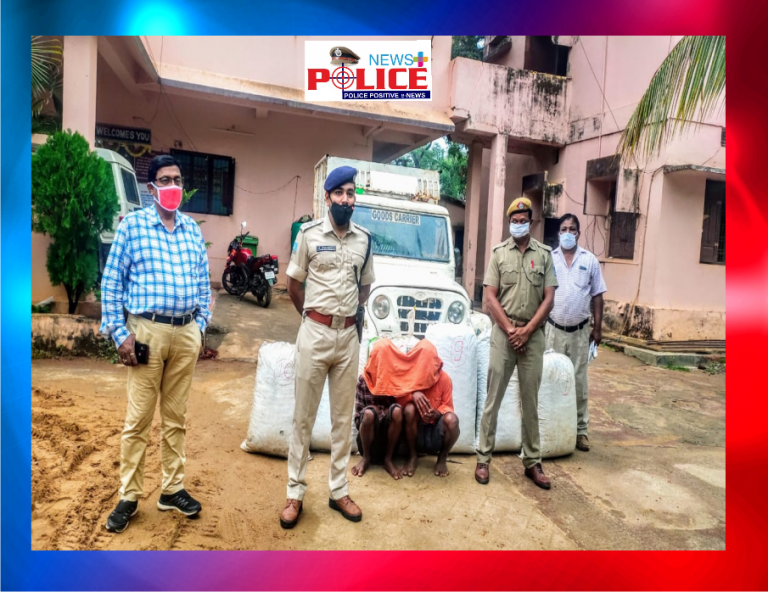 Boipariguda Police apprehended Ganja smugglers along with the contraband and vehicle