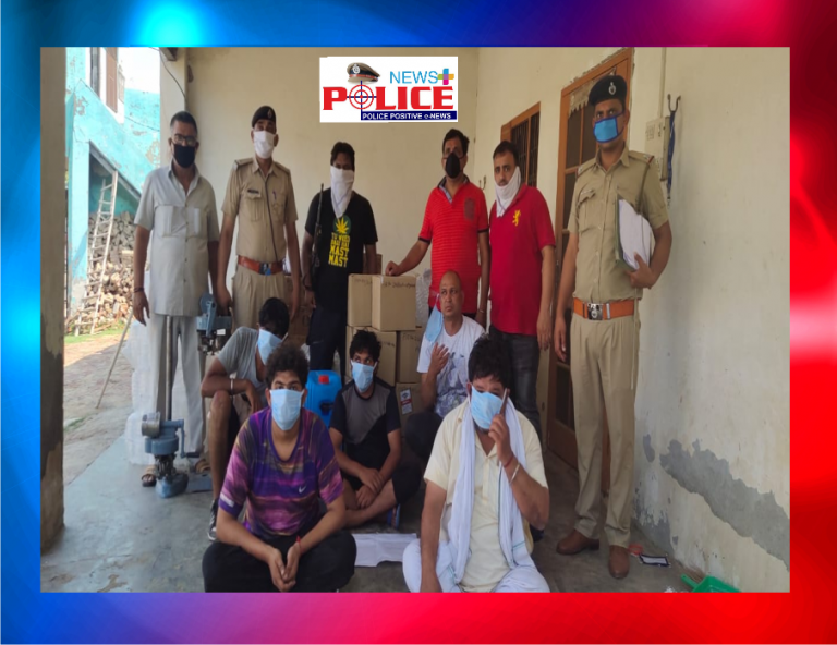 Haryana Police raided illegal liquor factory in Sonipat District