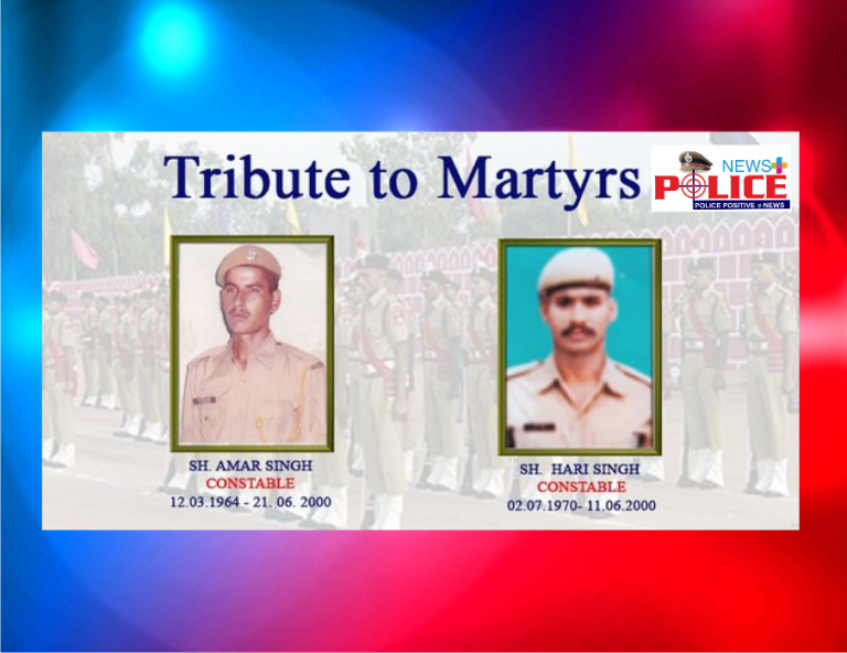 Rajasthan Police pays reverence to martyrs Mr. Hari Singh and Mr. Amar Singh, Constables