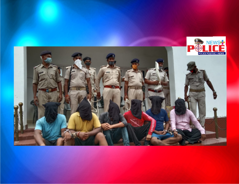 Muzaffarpur District Police arrested persons involved in criminal activity