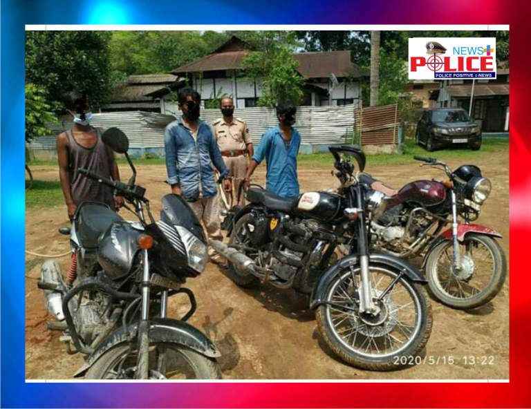 Sub-Inspector Mr. Kapil Pathak apprehends vehicle lifters and recovers stolen vehicles