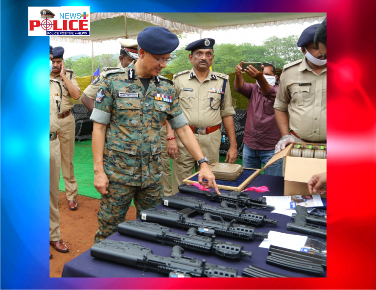 State-of-the-Art Firearms imported from Israel handed over to AP Police