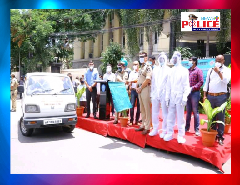 Sri. Anjani Kumar, IPS, Commissioner of Police, Hyderabad city launched free Last Ride Services vehicles