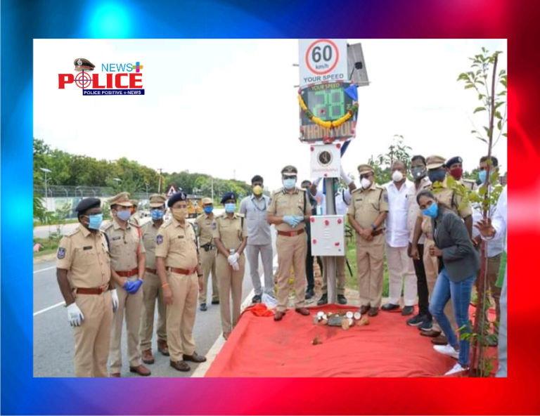 Commissioner of Police, Rachakonda initiated awareness on Road safety by installing Road safety devices
