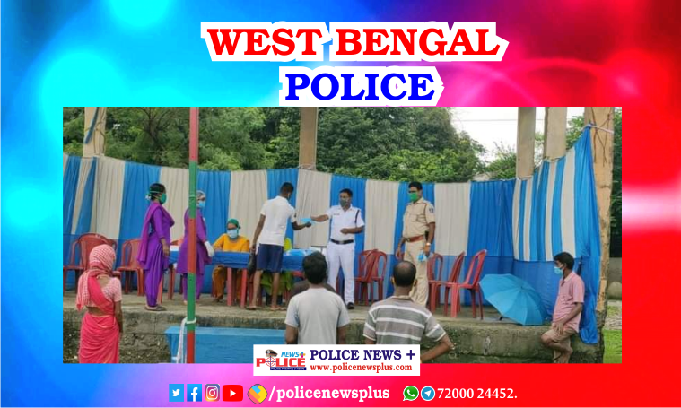 Siliguri police distributed vital materials to fight against COVID-19 on International Day of the World's Indigenous Peoples