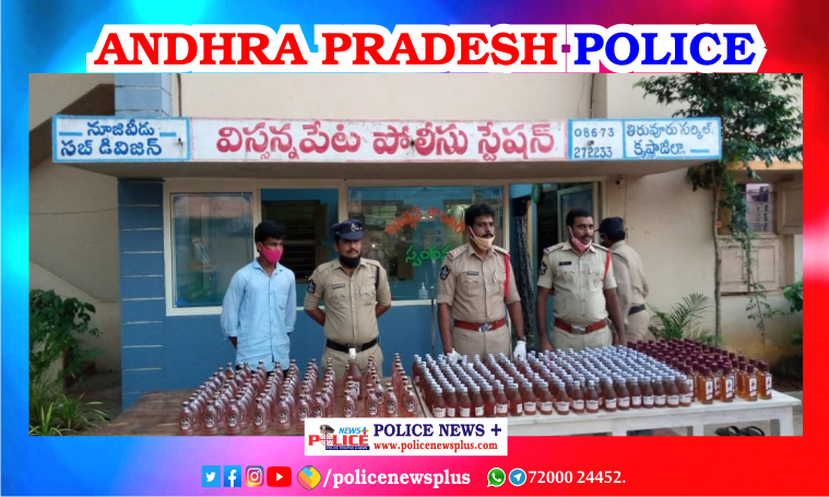 Police of Tamil Nadu and Andhra Pradesh arrested accused in possession of liquor