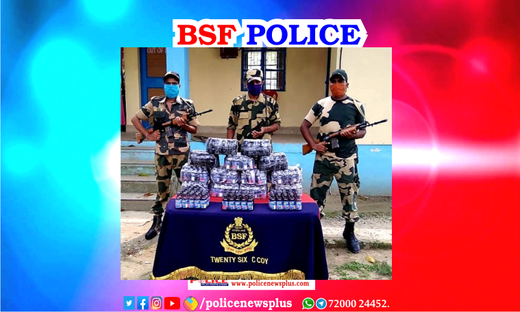 North Bengal Border Security Force (BSF) personal seized smuggled items from trans-border criminals