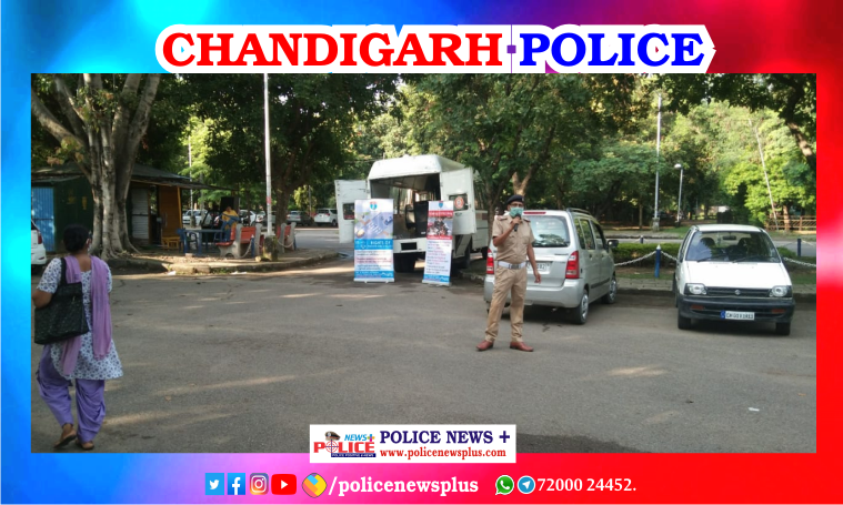Chandigarh Traffic Police conducted COVID-19 awareness drive