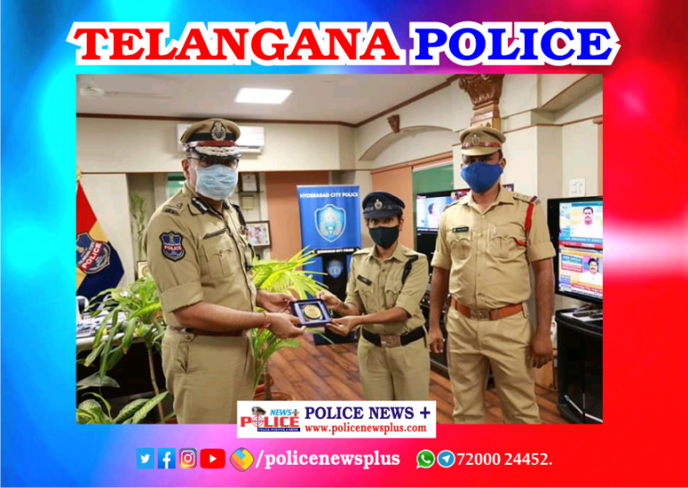 Women Police Constable Felicitated by Mr. Anjani Kumar,IPS, Commissioner of Police, Hyderabad city