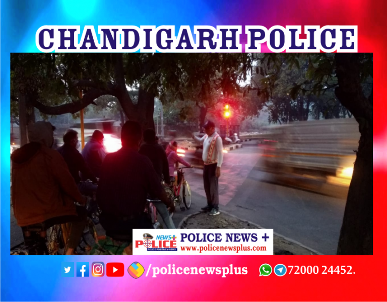 Chandigarh Traffic Police conducted awareness to cyclists
