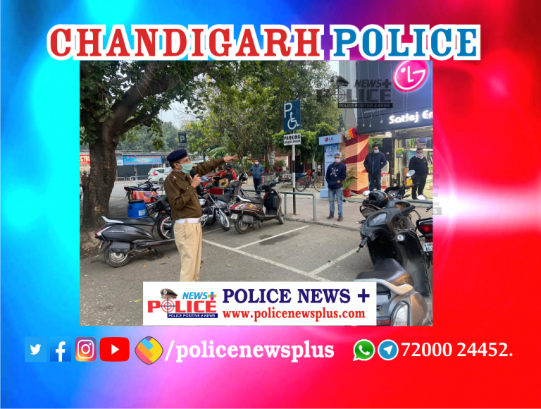 Chandigarh Traffic Police conducted COVID-19 awareness