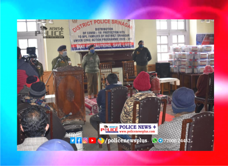 Srinagar Police held COVID awareness camp, COVID Safety Kits distributed