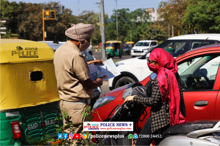 Road safety awareness conducted by Chandigarh Traffic Police