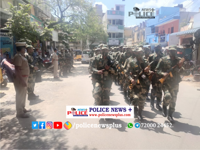 Legislative Assembly Elections 2021 – Greater Chennai Police conducted flag march