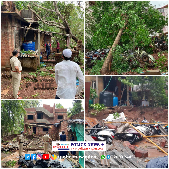 Ratnagiri Police inspecting and assisting the other police and people affected by cyclone Taukte