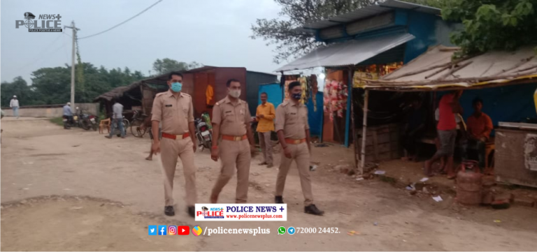 Basti Police conducted foot patrolling