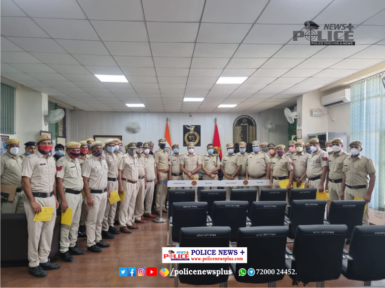 SP Palwal rewarded the Police Team