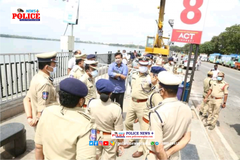 Final Ganesh Idols Immersion Route inspected by Hyderabad Police