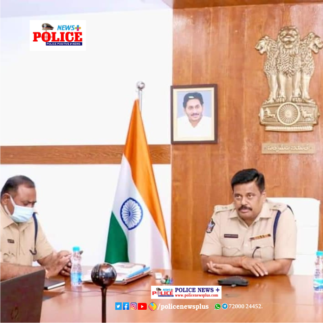 SP Mr. M. Rabindranath Babu, IPS, conducting review meeting with Women Police officers