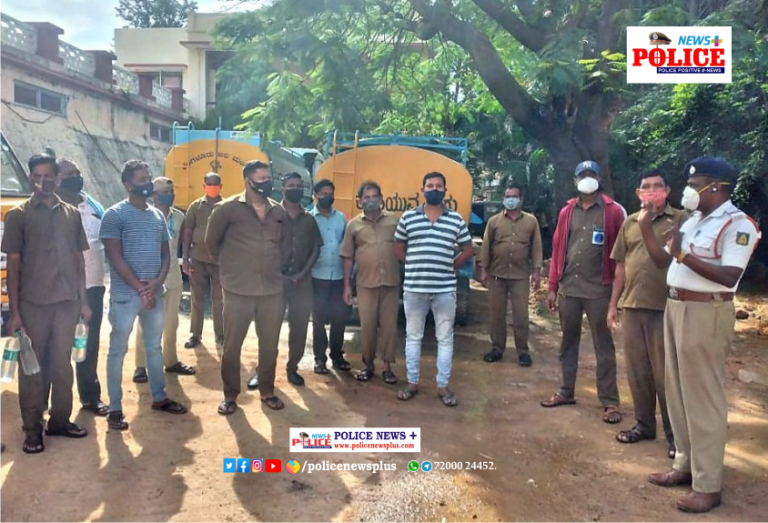 Bengaluru Traffic Police conducted meeting with Water tanker drivers